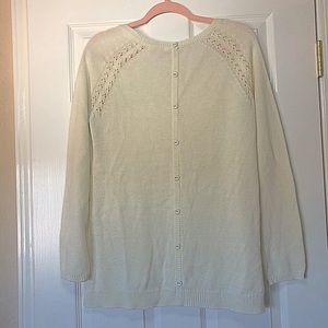 Cream sweater large tunic style